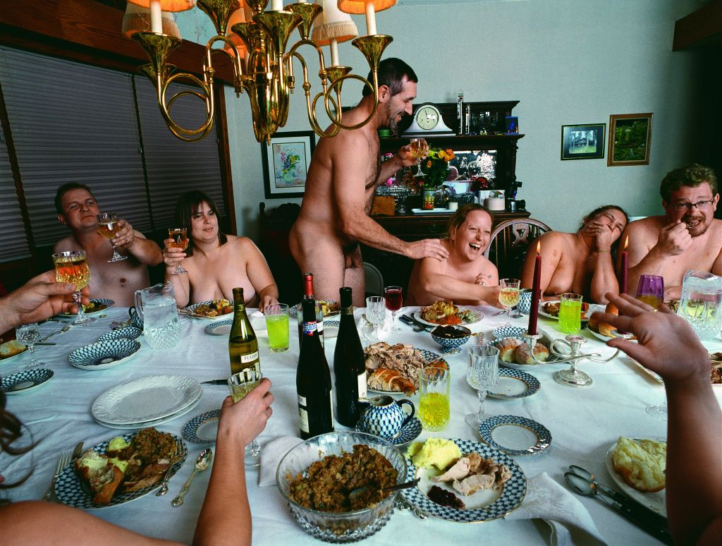Naomi Harris, Thanksgiving Dinner, Big Lake, out of the book America Swings, Taschen